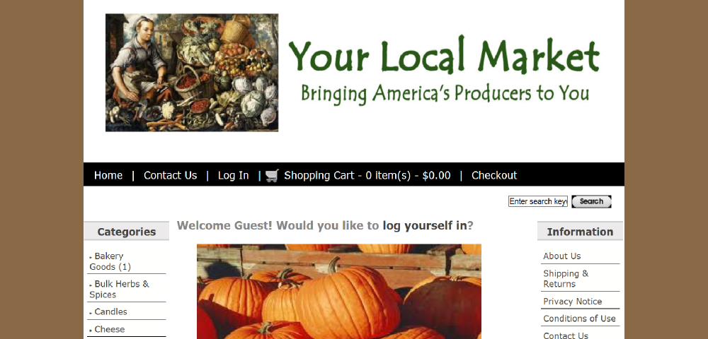 Farmers Local Market model website by Prodigy Designs   www.farmerslocalmarket.com