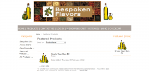 Bespoken Flavors website by Prodigy Designs    www.bespokenflavors.com