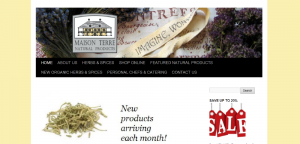 Maison Terre Natural Products website by Prodigy Designs   www.maisionterre.net